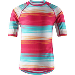 Reima Ionian Swim Shirts Barn candy pink/streifen candy pink/streifen