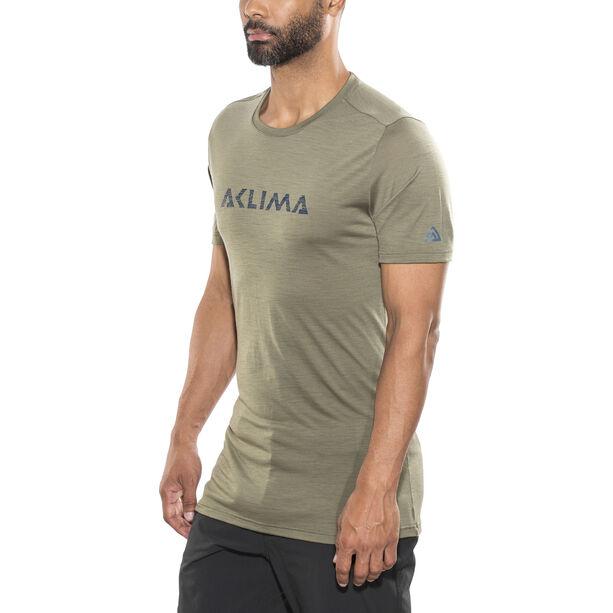 Aclima LightWool LOGO T-shirt Herr ranger green