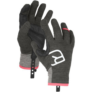Ortovox Fleece Light Gloves Dam dark grey blend dark grey blend
