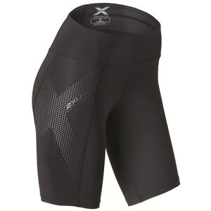2XU Mid-Rise Compression Dam black/dotted reflective logo black/dotted reflective logo