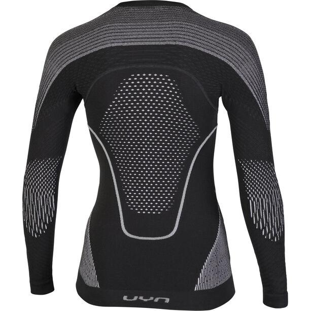 UYN Evolutyon UW LS Shirt Dam charcoal/white/light grey