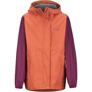 Marmot PreCip Eco Jacket Flickor Nasturtium/Purple Berry Nasturtium/Purple Berry