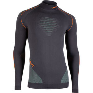 UYN Evolutyion UW LS Turtle Neck Shirt Herr charcoal/green/orange shiny charcoal/green/orange shiny