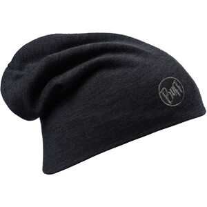 Buff Heavyweight Merino Wool Hat solid black solid black