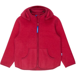 Finkid Tonttu Sport Wool Zip in Inner Jacket Flickor persian red persian red