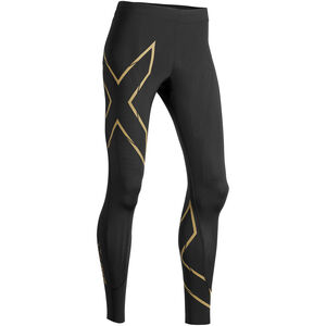2XU MCS Run Compression Tights Dam black/gold reflective black/gold reflective