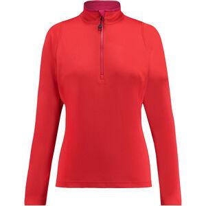 Kaikkialla Eveliina Zipp Shirt 1/1 Dam bright red bright red