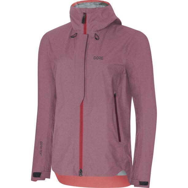 GORE WEAR H5 Women Gore-Tex Active Hooded Jacket Dam chestnut red/hibiscus pink