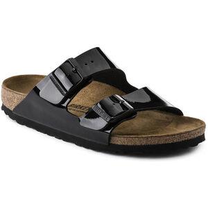 Birkenstock Arizona Sandals Birko-Flor/Patent Dam Black Black