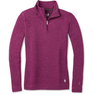 Smartwool Mid 250 Zip T Dam Sangria Heather Sangria Heather