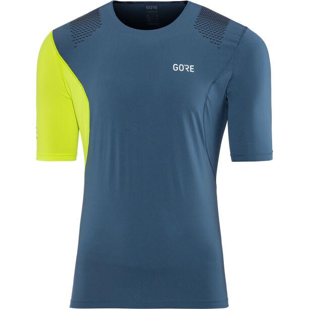 GORE WEAR R7 Shirt Herr deep water blue/citrus green