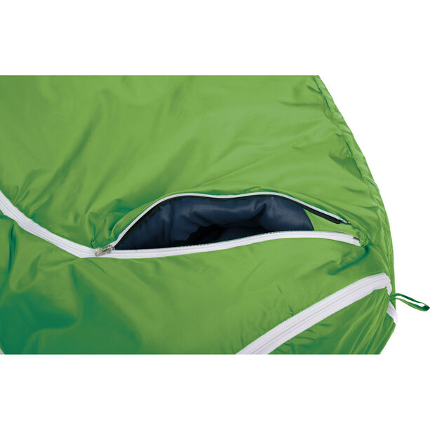 Grüezi-Bag Biopod Woll World Traveller Sleeping Bag Barn holly green