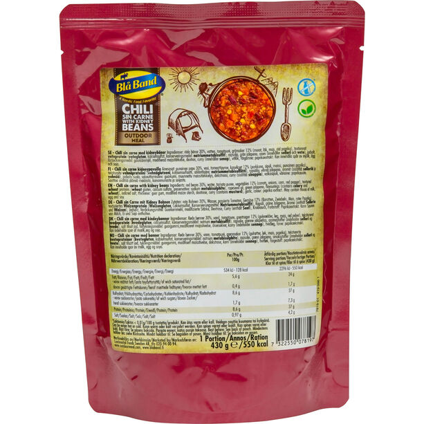 Blå Band Outdoor Meal 430g Chili sin Carne with kidney beans