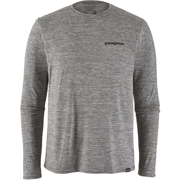 Patagonia Cap Cool Daily Graphic Long Sleeve Shirt Herr p-6 logo/feather grey