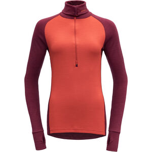 Devold Expedition Woman Zip Neck Dam beetroot beetroot