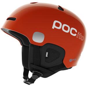 POC POCito Auric Cut Spin Helmet Barn fluorescent orange fluorescent orange