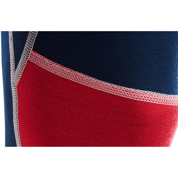 Aclima LightWool Reinforced Long Pants Herr insignia blue/blithe/high risk red