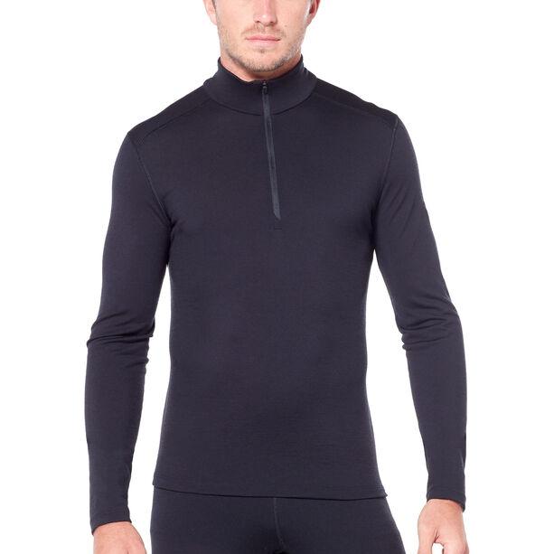 Icebreaker 200 Oasis LS Half Zip Shirt Herr black