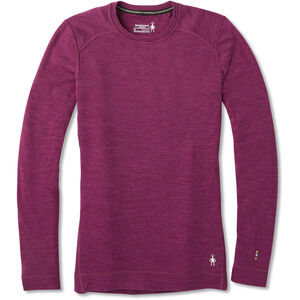 Smartwool Merino 250 Baselayer Crew Shirt Dam Sangria Heather Sangria Heather