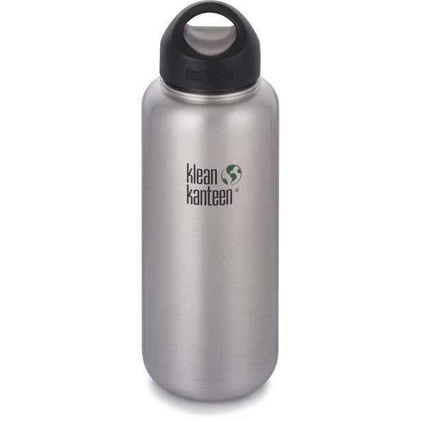 Klean Kanteen Wide Bottle Stainless Loop Cap 1182ml brushed stainless