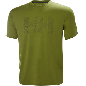 Helly Hansen Skog Graphic T-Shirt Herr wood green wood green