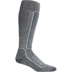 Icebreaker Ski+ Medium OTC Socks Herr Gritstone Heather/Black Gritstone Heather/Black