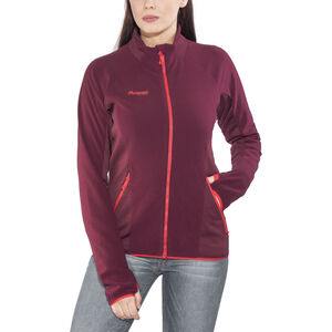 Bergans Cecilie Fleece Jacket Dam dark cherry/strawberry dark cherry/strawberry