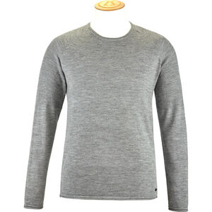 Alchemy Equipment 14 Gauge Merino Long Sleeve Crew Shirt Herr grey marle grey marle