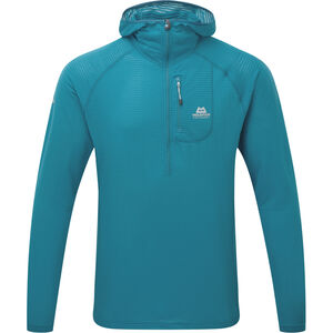 Mountain Equipment Solar Eclipse Hooded Zip Tee Herr tasman blue tasman blue