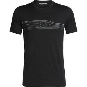 Icebreaker Tech Lite Ski Racer SS Crewe Shirt Herr Black Black