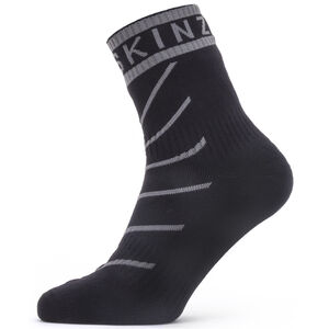 Sealskinz Waterproof Warm Weather Ankle Socks with Hydrostop Black/Grey Black/Grey