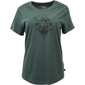 United By Blue Mountain Mist SS Graphic Tee Dam Evergreen Evergreen