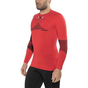 X-Bionic Effektor Power Running Shirt LS Herr flash red/black flash red/black
