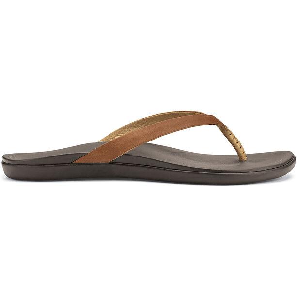 OluKai Ho'opio Leather Sandals Dam sahara/dark java
