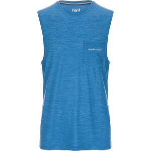 super.natural Movement Tanktop Herr vallarta blue melange vallarta blue melange