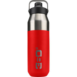 360° degrees Wide Mouth Insulated Drink Bottle with Sipper Cap 750ml red red