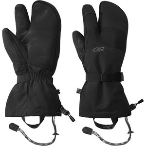 Outdoor Research Highcamp 3-Finger Gloves Herr black black