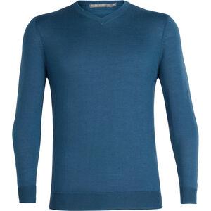Icebreaker Quailburn V Sweater Herr thunder thunder