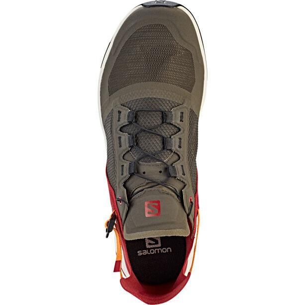 Salomon Techamphibian 4 Shoes Herr beluga/russet orange/red dahlia
