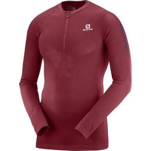 Salomon Exo Motion Half Zip LS Tee Herr biking red biking red