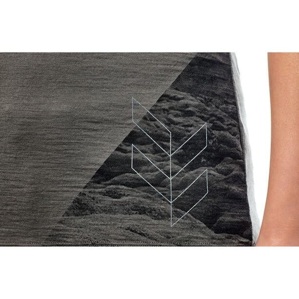 Icebreaker Tech Lite Highlands SS V Shirt Dam metal