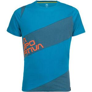 La Sportiva Slab T-shirt Herr tropic blue/lake tropic blue/lake