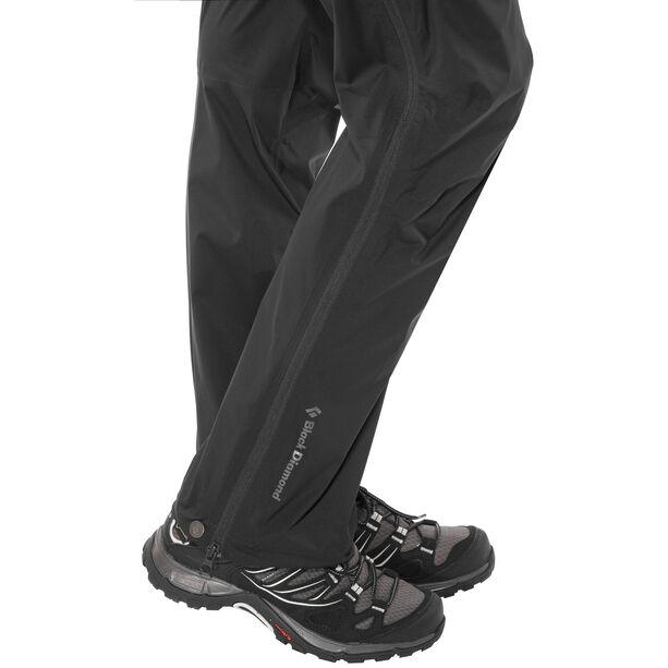 Black Diamond Stormline Stretch Full Zip Rain Pants Dam black