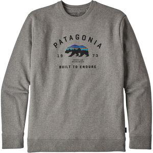 Patagonia Arched Fitz Roy Bear Uprisal Crew Sweatshirt Herr gravel heather gravel heather