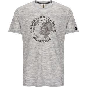 super.natural Graphic T-shirt Herr ash melange/killer khaki planet b ash melange/killer khaki planet b