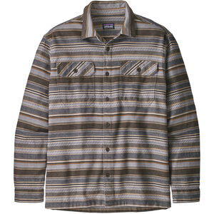 Patagonia Fjord LS Flannel Shirt Herr folk dobby/bristle brown folk dobby/bristle brown