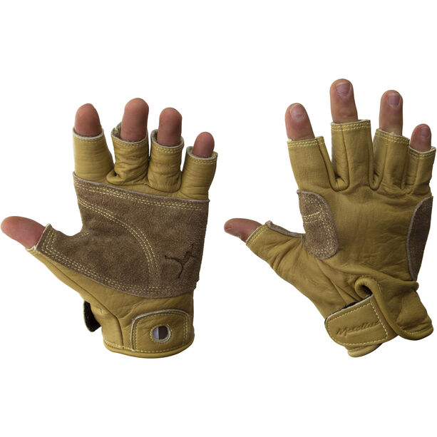 Metolius Climbing 3/4 Finger Gloves L natural/brown