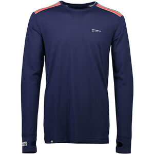 Mons Royale Alta Tech LS Crew Baselayer Herr Navy/Grey Marl Navy/Grey Marl