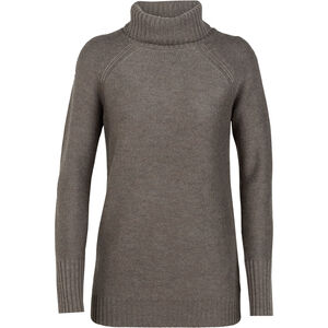 Icebreaker Waypoint Roll Neck Sweater Dam toast heather toast heather