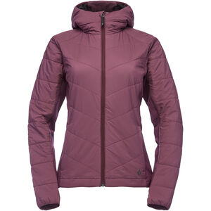 Black Diamond Aspect Wool Hoody Dam Plum Plum